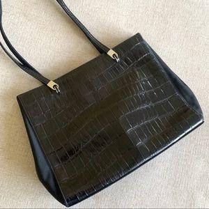 Jones New York leather bag crocodile tote satchel